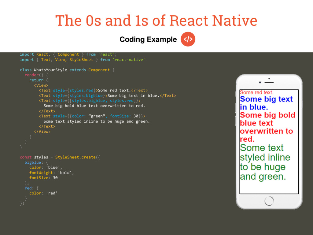 Coding Example The 0s and 1s of React Native im...