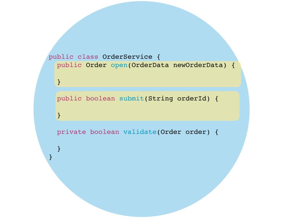 public class OrderService { public Order open(O...