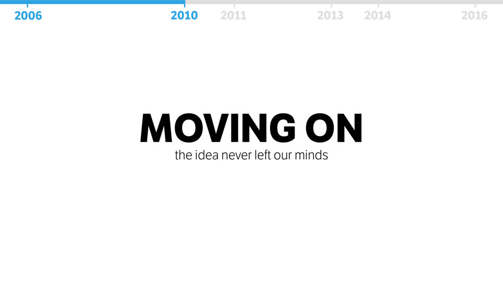 MOVING ON the idea never left our minds 2006 20...