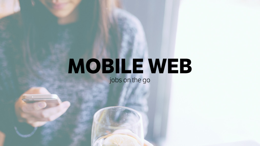MOBILE WEB jobs on the go