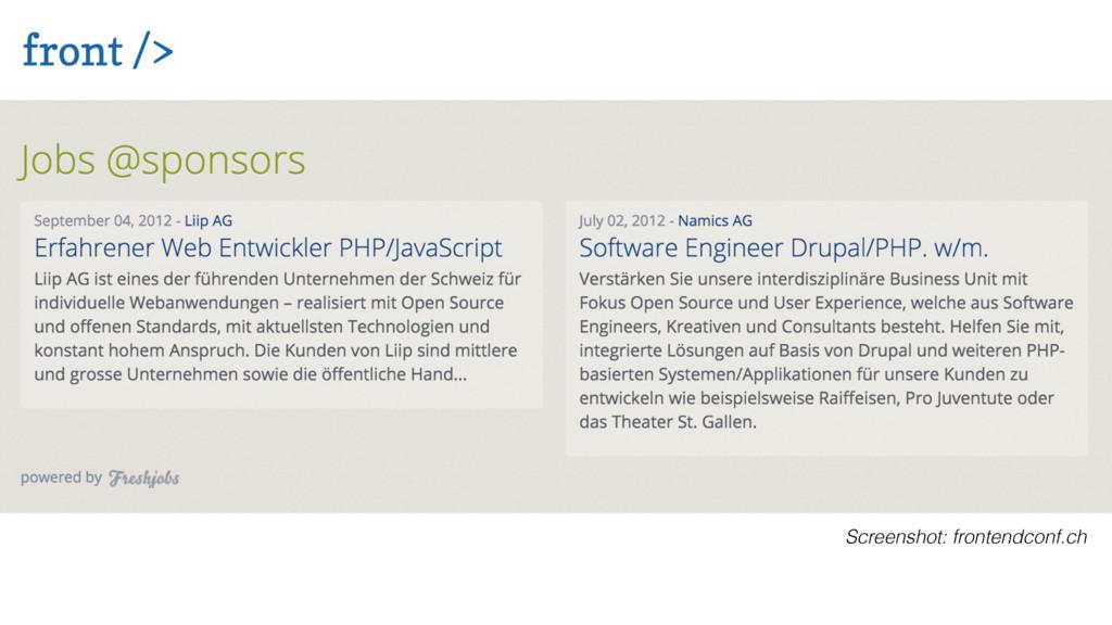 Screenshot: frontendconf.ch