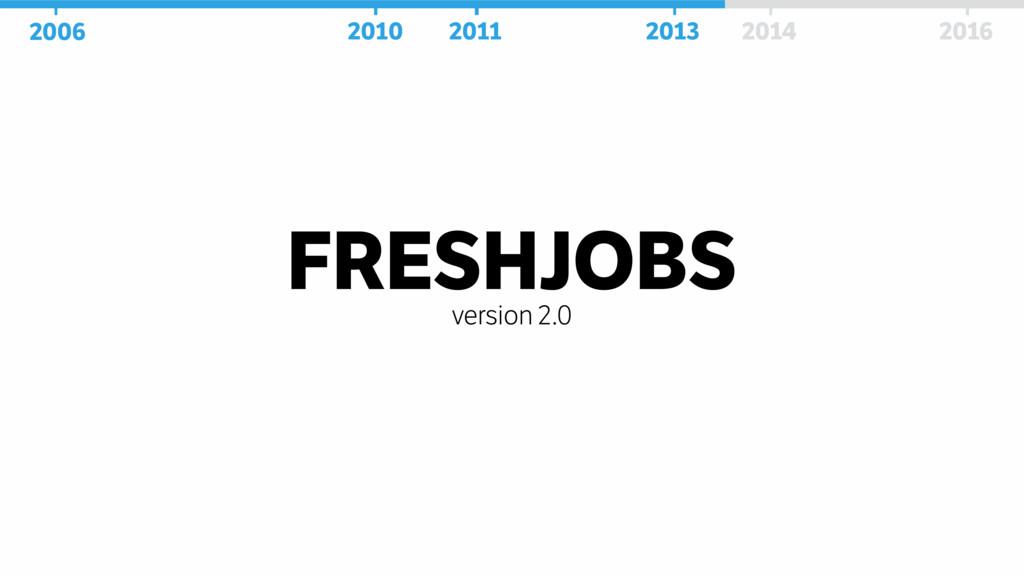 FRESHJOBS version 2.0 2006 2010 2011 2013 2014 ...