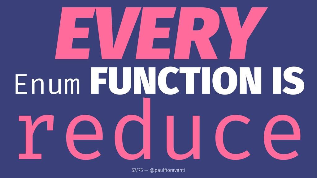 EVERY Enum FUNCTION IS reduce 57/75 — @paulfiora...