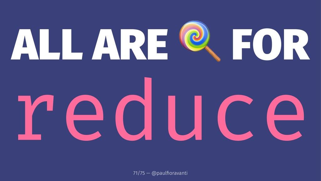 ALL ARE FOR reduce 71/75 — @paulfioravanti