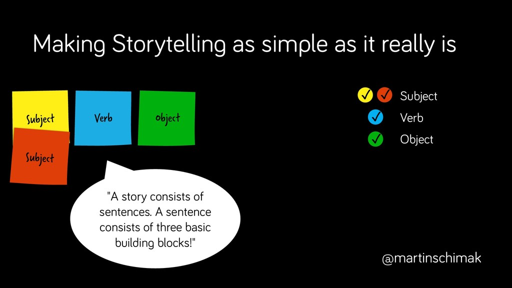 Verb Subject Making Storytelling as simple as i...