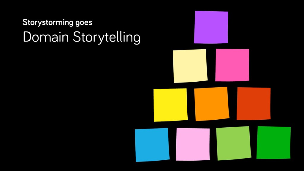Storystorming goes Domain Storytelling
