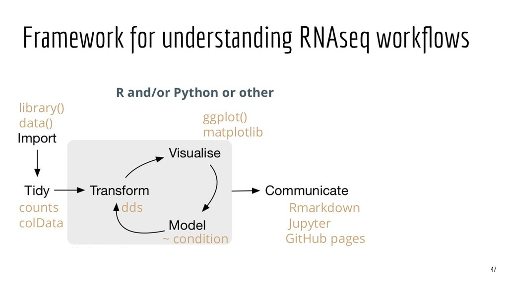 Framework for understanding RNAseq workflows R a...