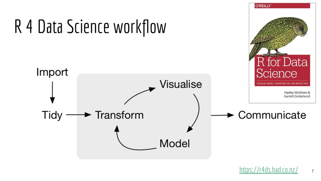 R 4 Data Science workflow https://r4ds.had.co.nz...