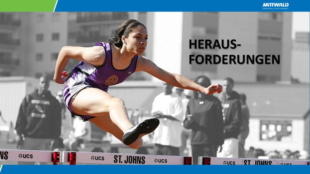 HERAUS- FORDERUNGEN