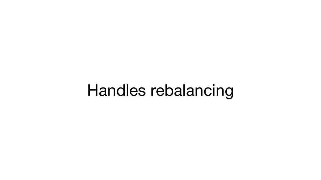 Handles rebalancing