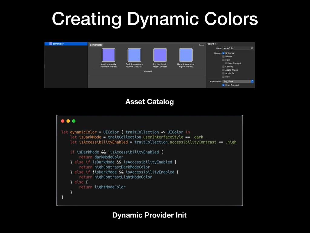 Creating Dynamic Colors Dynamic Provider Init A...