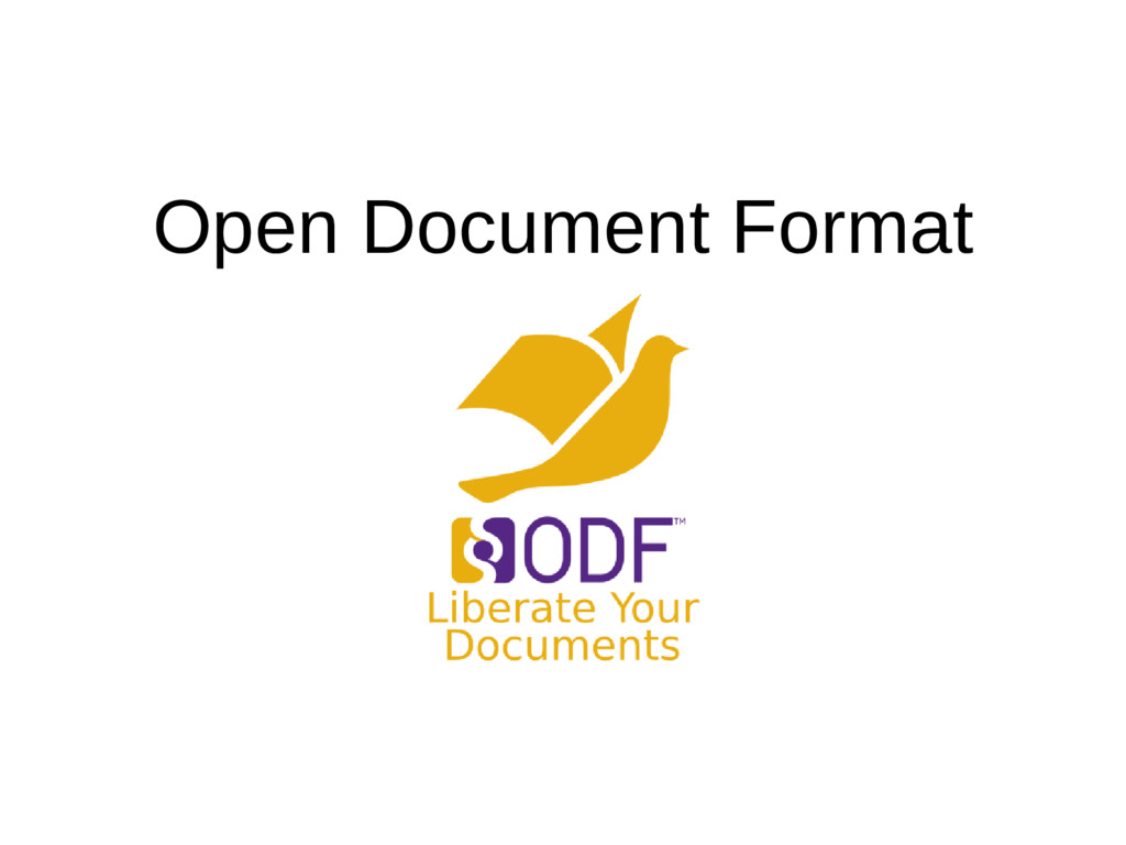 Open Document Format