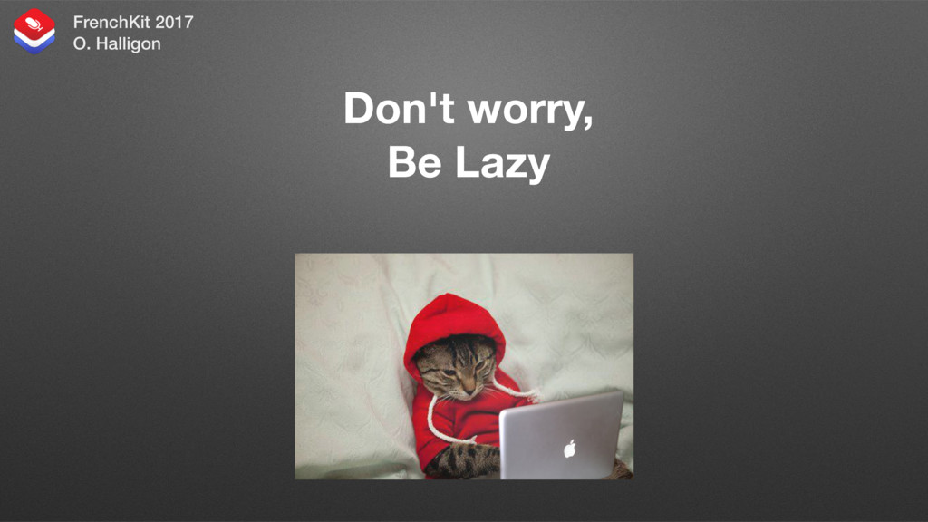 Don't worry, Be Lazy And let your Mac write you...