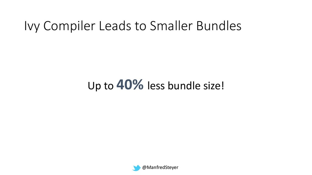 @ManfredSteyer Ivy Compiler Leads to Smaller Bu...