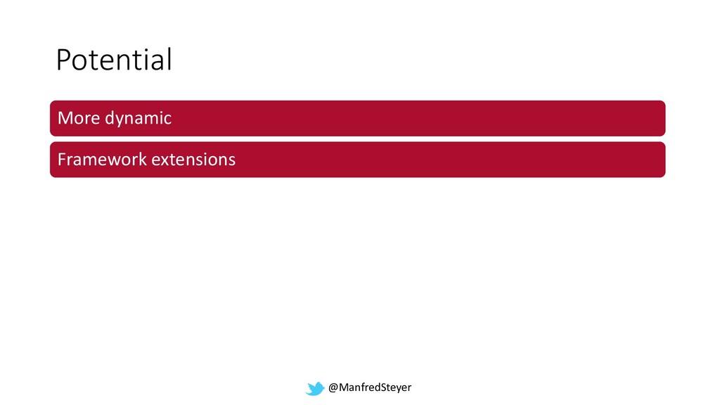 @ManfredSteyer Potential More dynamic Framework...