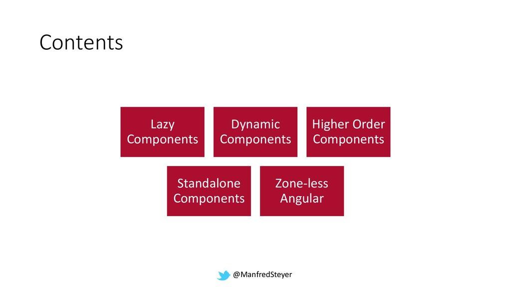 @ManfredSteyer Contents Lazy Components Dynamic...