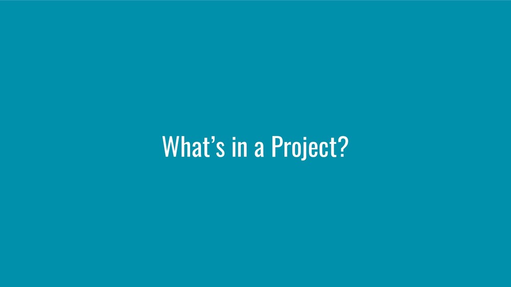 What's in a Project?