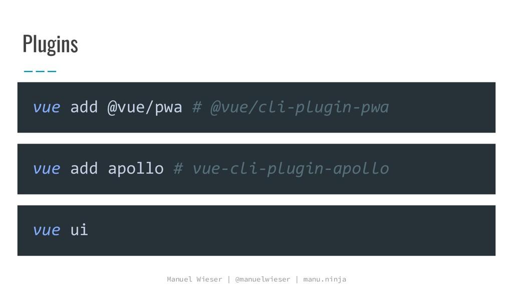 Manuel Wieser | @manuelwieser | manu.ninja Plug...