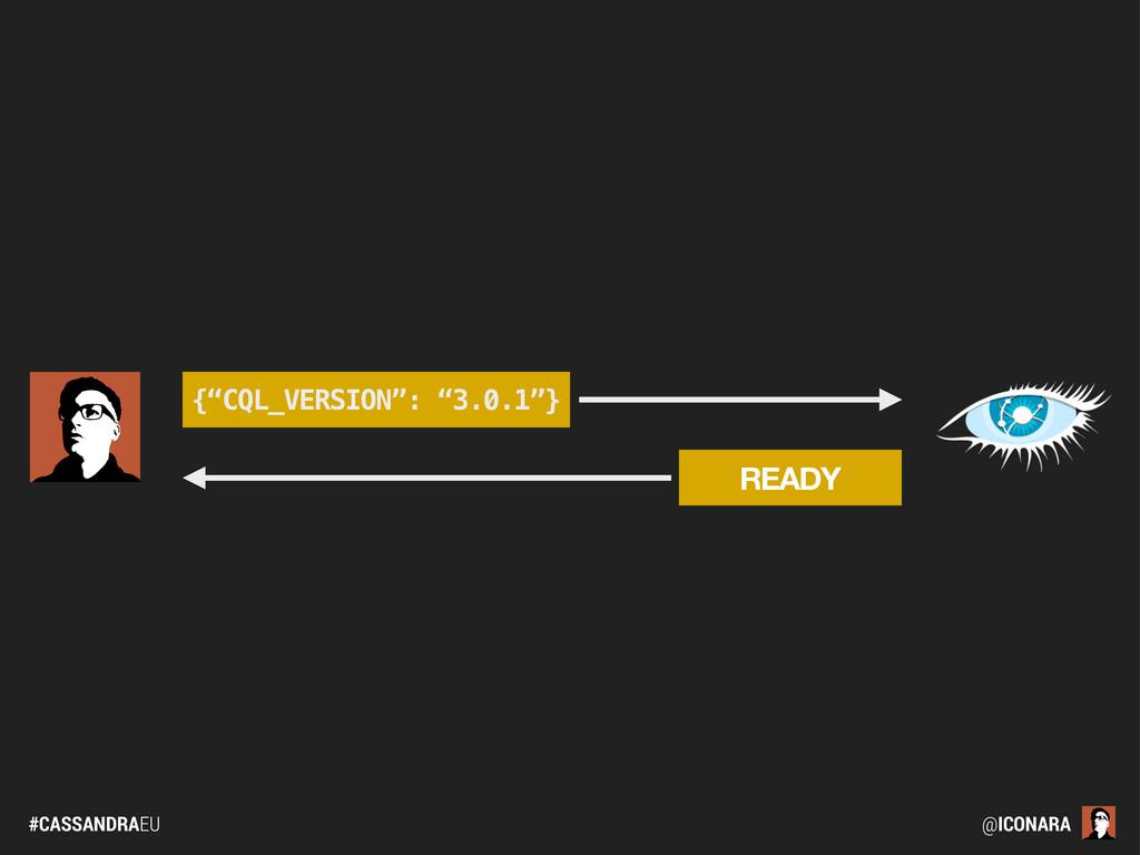 """#CASSANDRAEU @ICONARA READY {""""CQL_VERSION"""": """"3...."""
