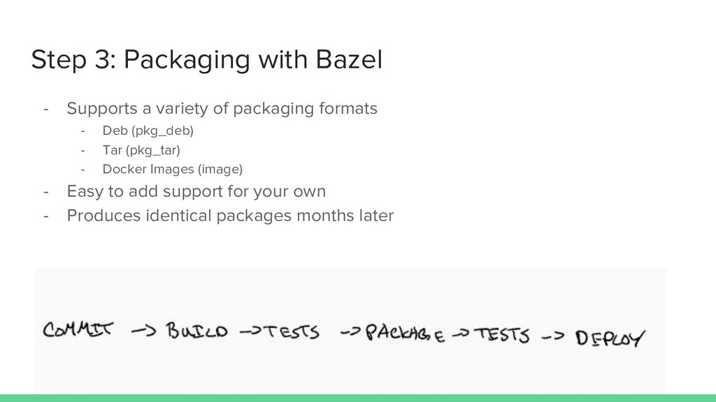 Step 3: Packaging with Bazel - Supports a varie...