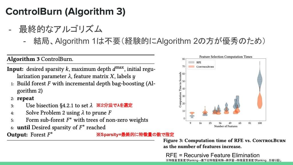 - 最終的なアルゴリズム - 結局、Algorithm 1は不要(経験的にAlgorithm ...