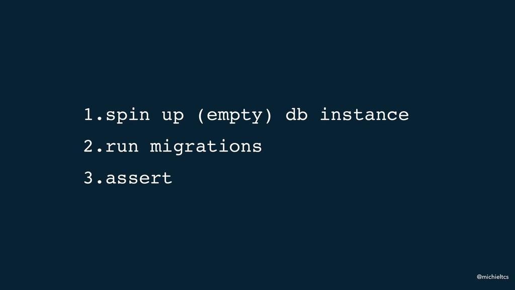 @michieltcs 1.spin up (empty) db instance 2.run...