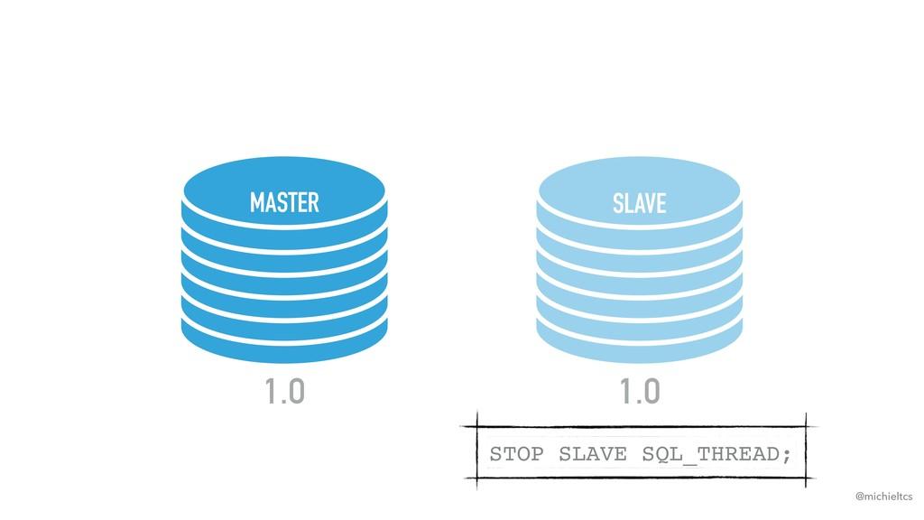 @michieltcs MASTER SLAVE 1.0 1.0 STOP SLAVE SQL...
