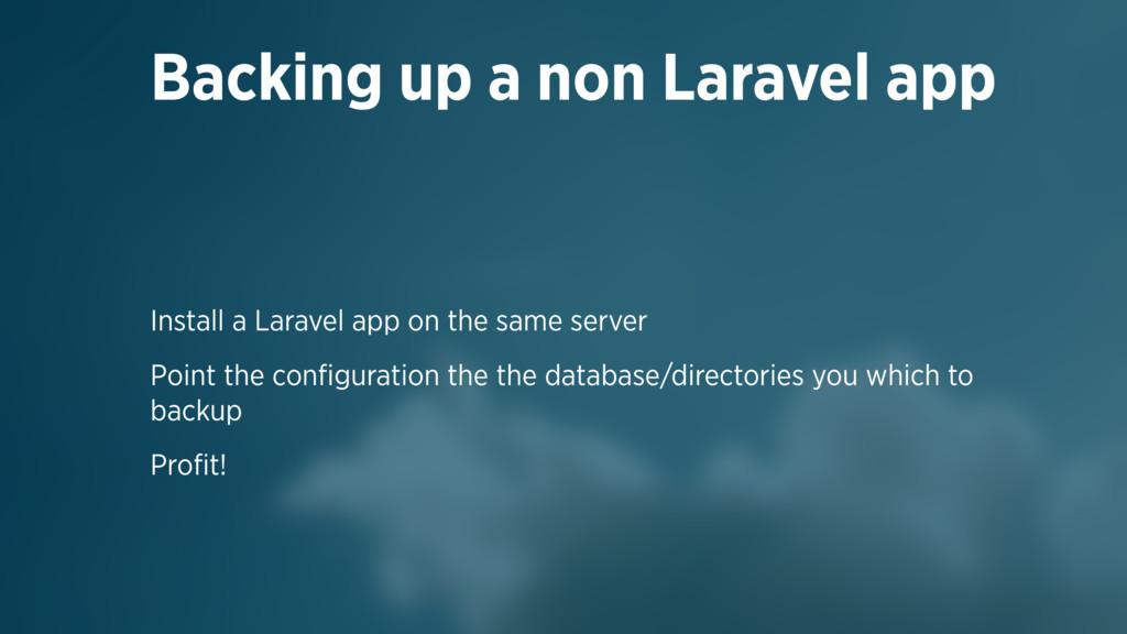 Install a Laravel app on the same server Point ...