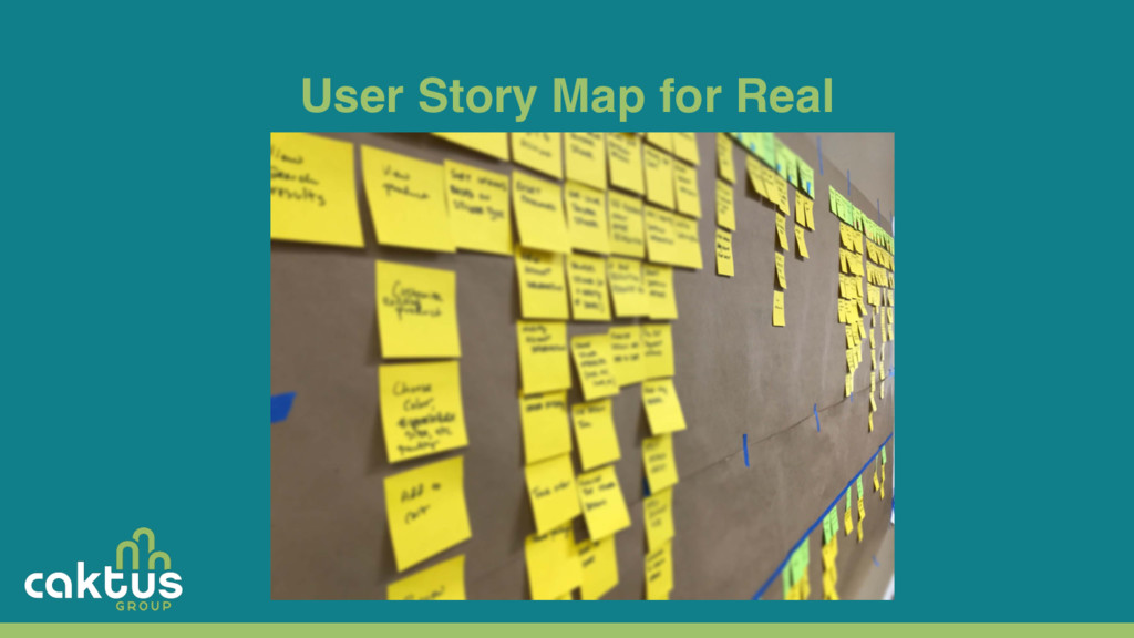User Story Map for Real