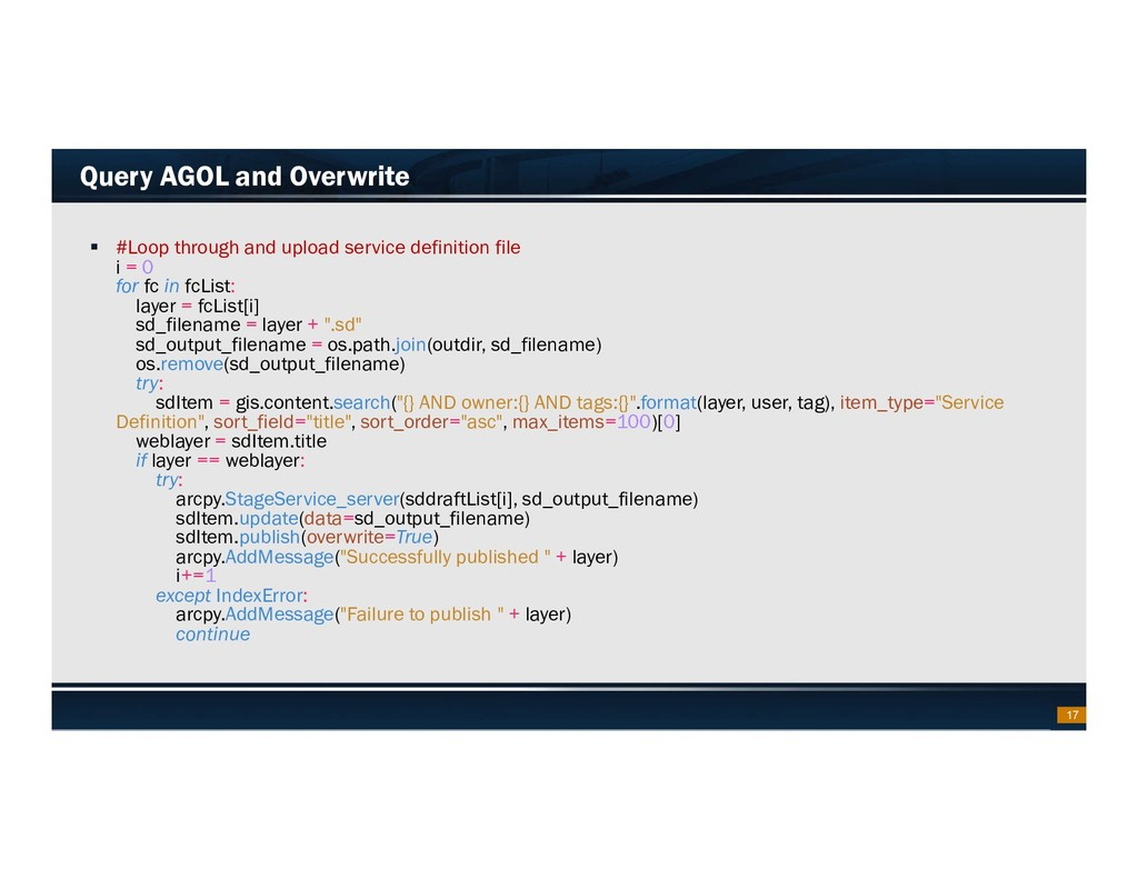Footer Text Date Query AGOL and Overwrite  #Lo...