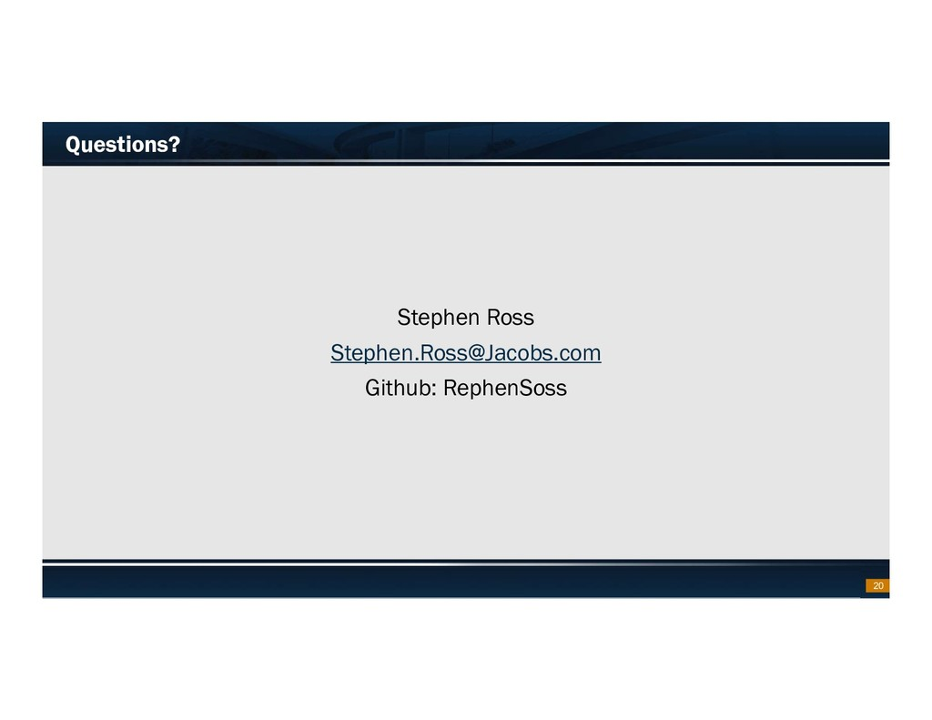 Footer Text Date Questions? Stephen Ross Stephe...