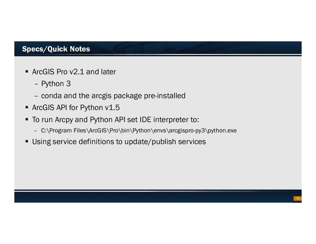 Footer Text Date Specs/Quick Notes  ArcGIS Pro...