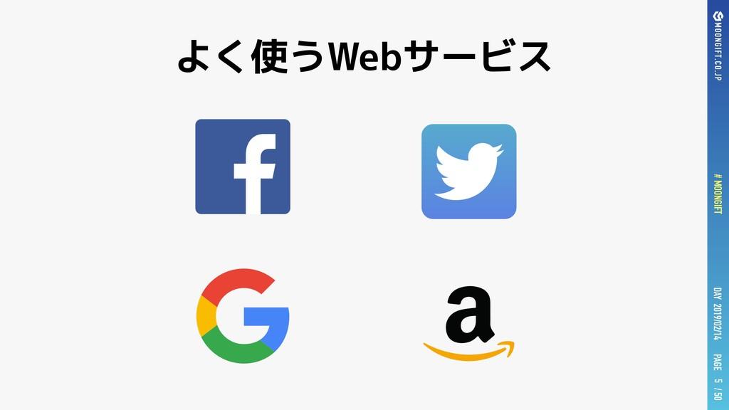 PAGE # MOONGIFT / 50 DAY 2019/02/14 よく使うWebサービス...