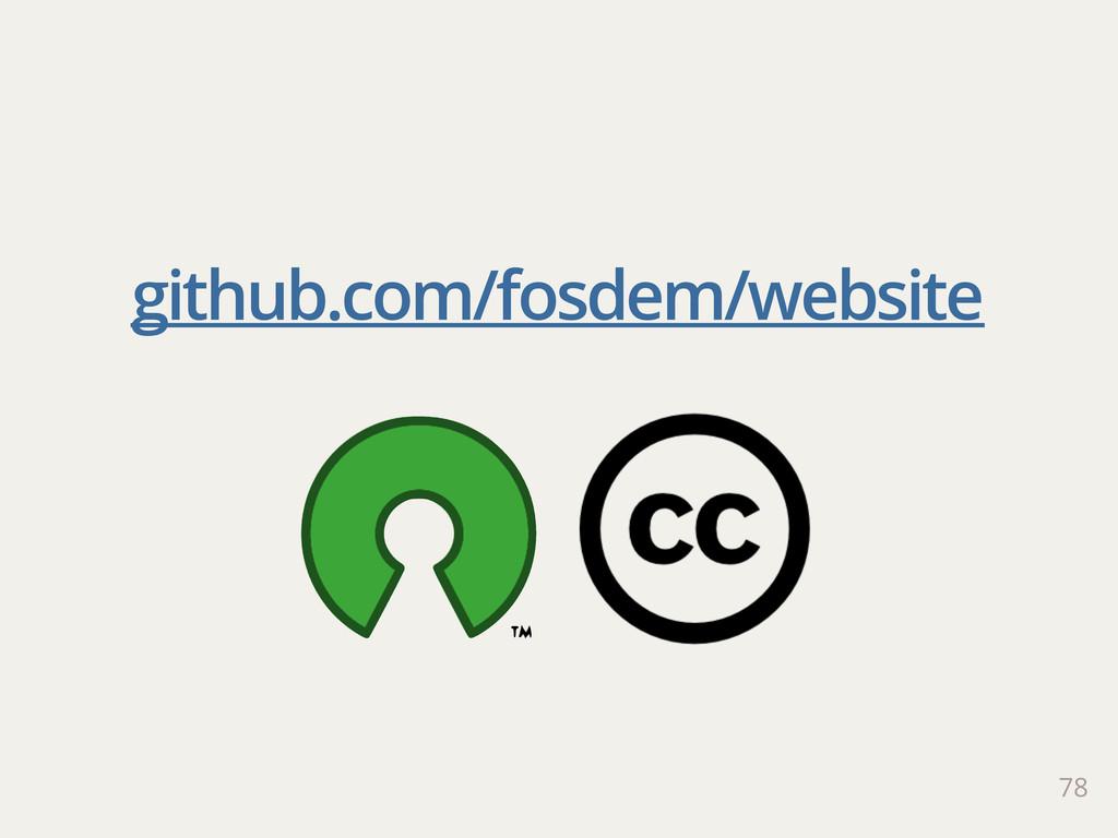 78 github.com/fosdem/website