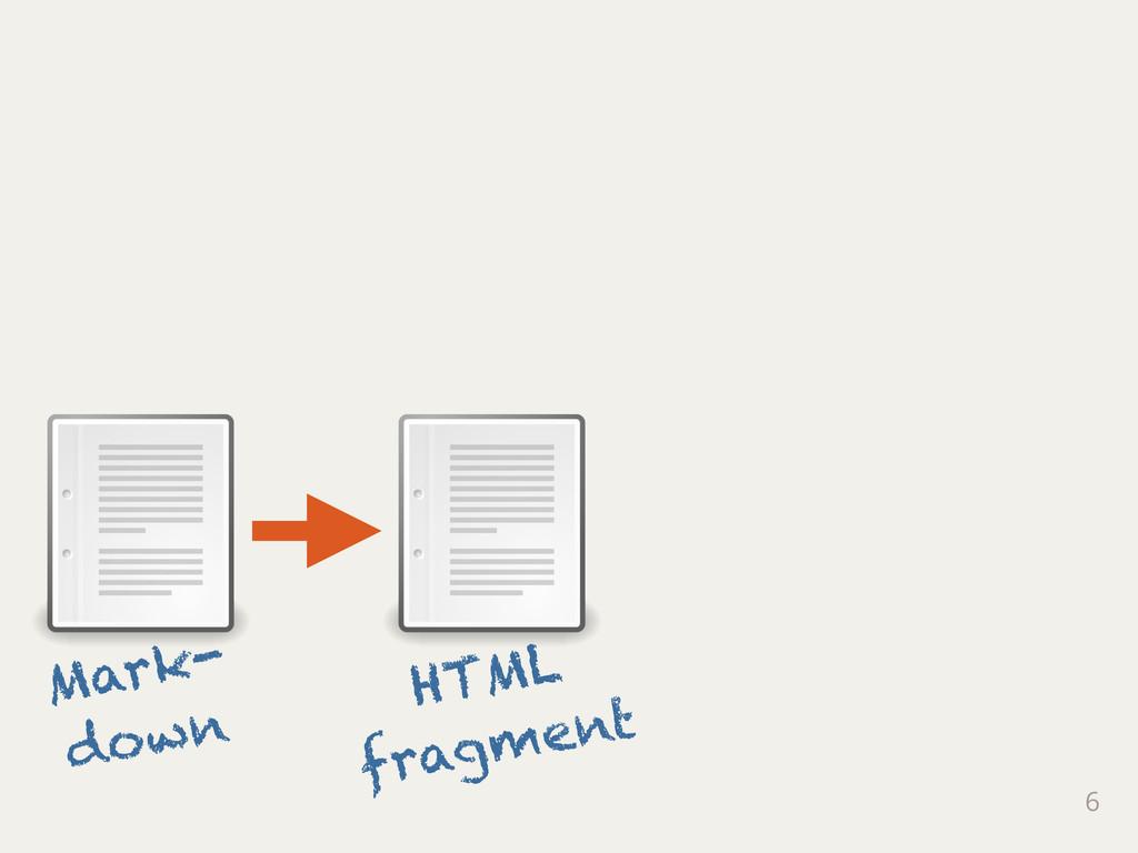 6 Mark- down HTML fragment
