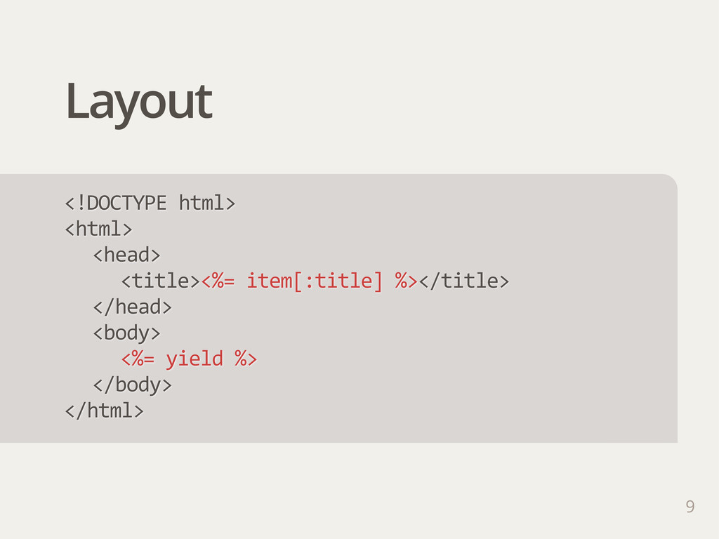 Layout 9 <!DOCTYPE html> <html> <head> <title>...