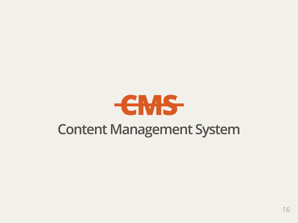 16 CMS Content Management System