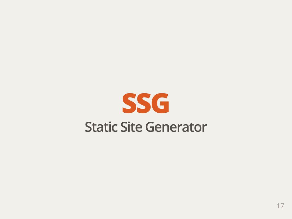 17 SSG Static Site Generator
