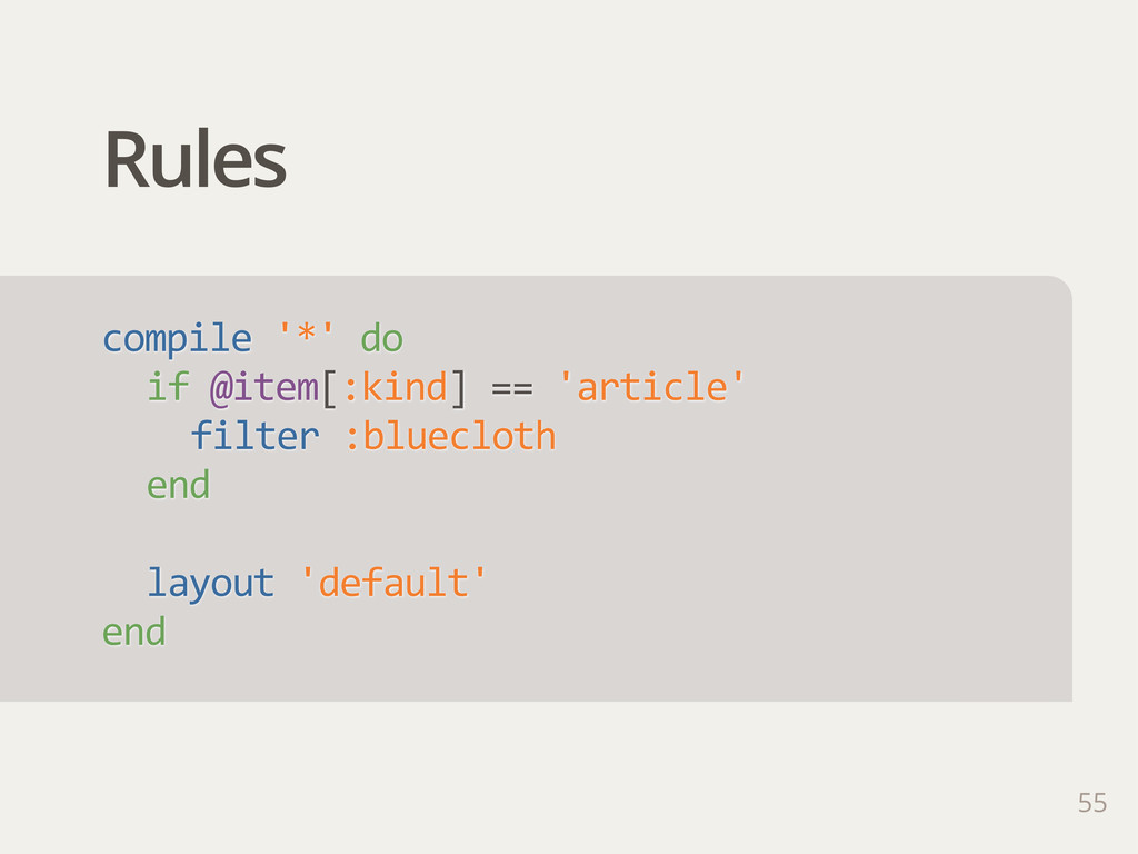 Rules 55 compile '*' do if @item[:kind] == ...