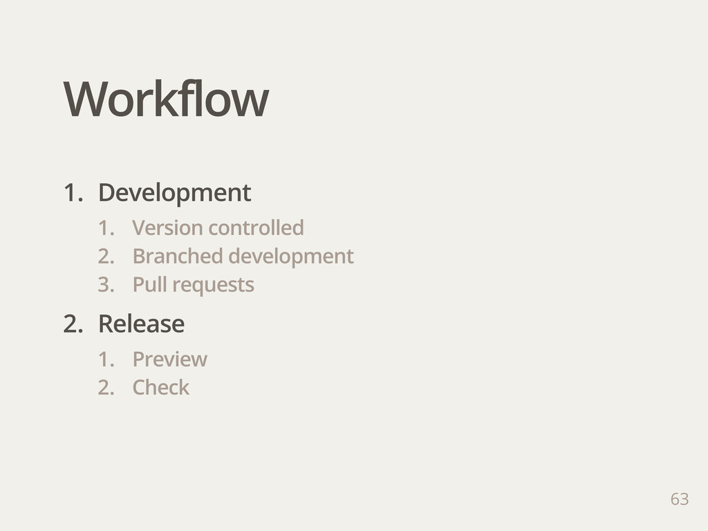 Workflow 63 1. Development 1. Version controlle...
