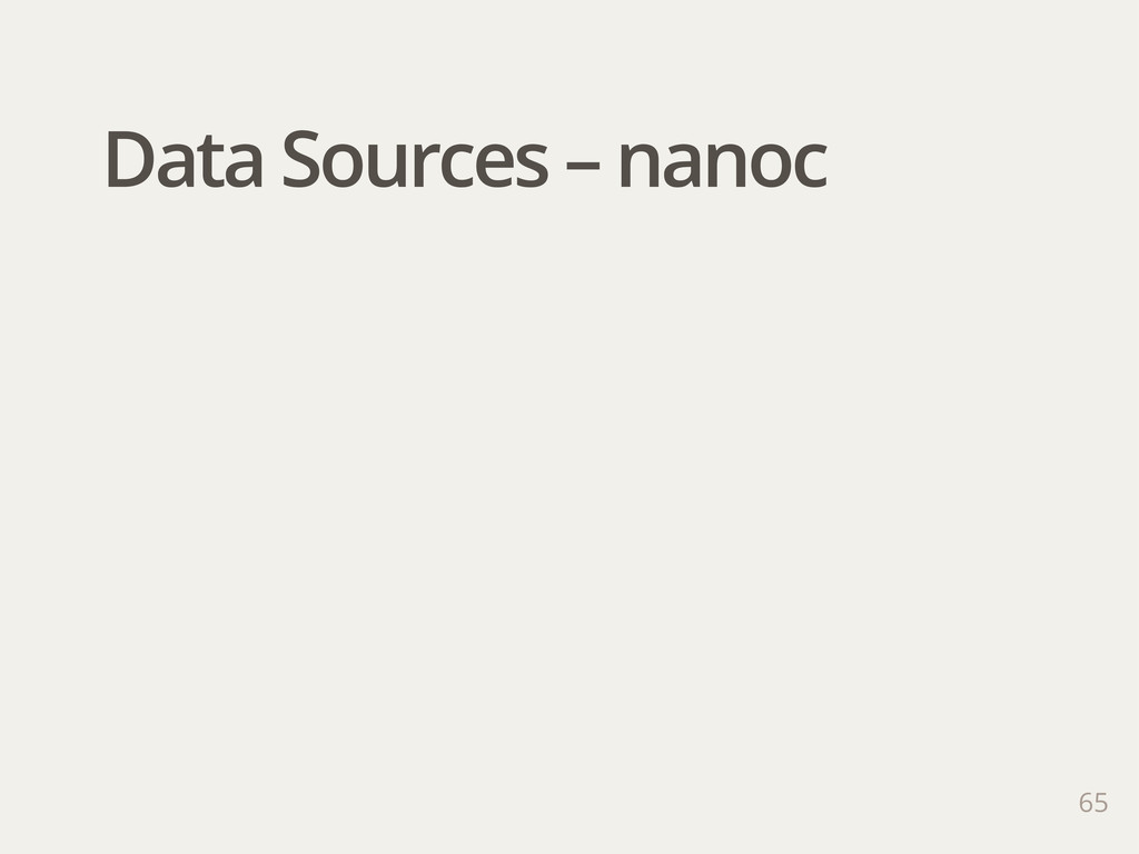 65 Data Sources – nanoc