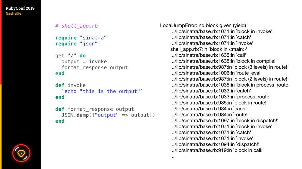 """# shell_app.rb require """"sinatra"""" require """"json""""..."""