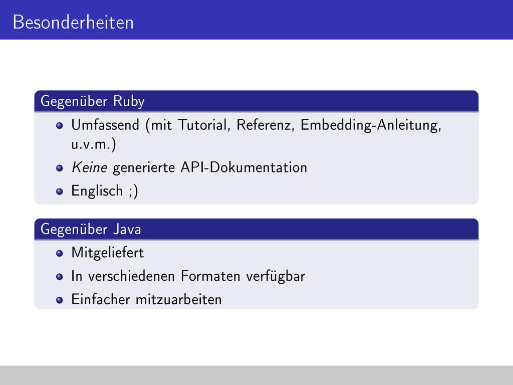 Besonderheiten Gegenüber Ruby Umfassend (mit Tu...