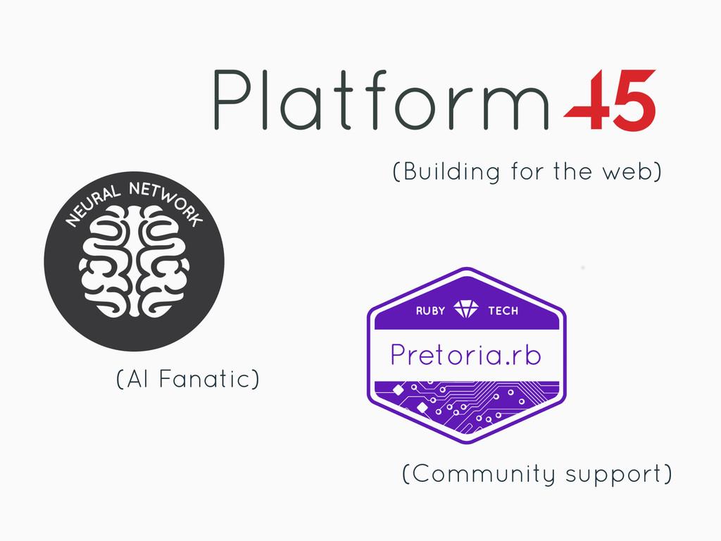 (Building for the web) (AI Fanatic) (Community ...