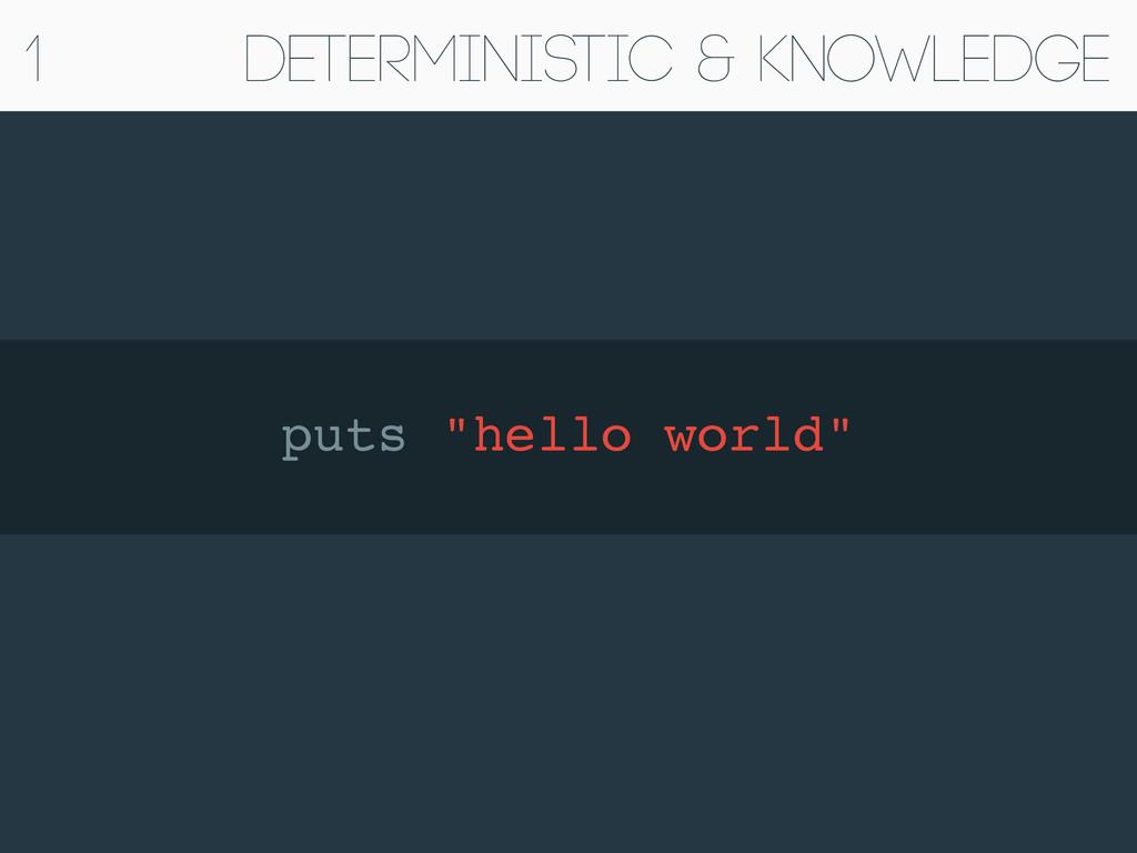 "Deterministic & Knowledge puts ""hello world""! 1"