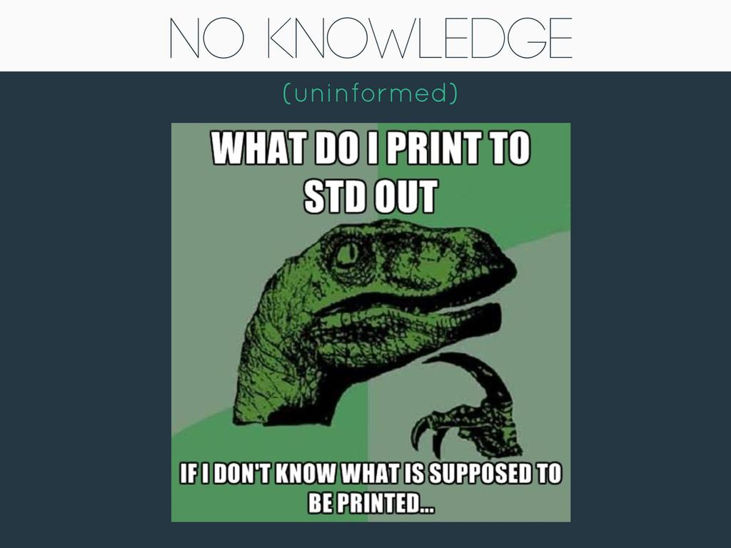No Knowledge (uninformed)