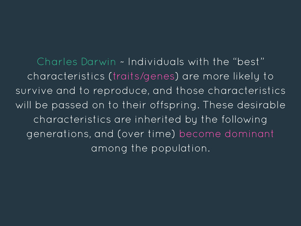"""Charles Darwin ~ Individuals with the """"best"""" ch..."""