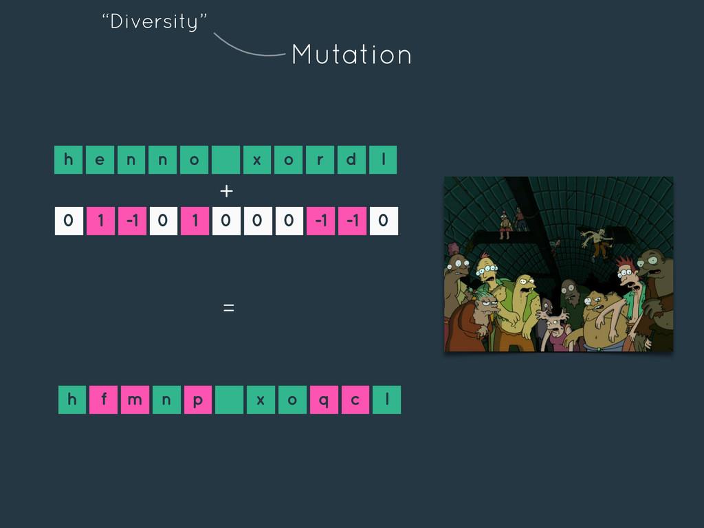 Mutation h e n n o x o r d l 0 1 -1 0 1 0 0 0 -...