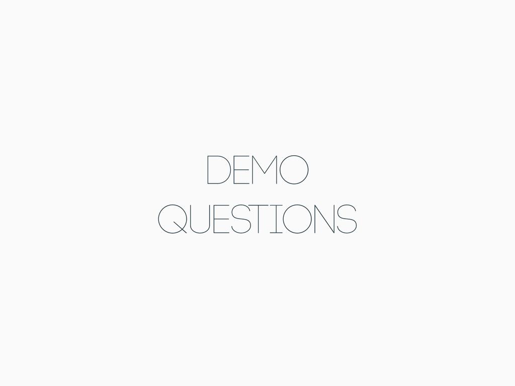 DEMO Questions