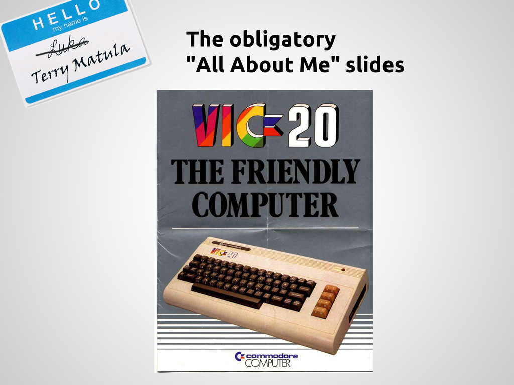 """The obligatory """"All About Me"""" slides"""